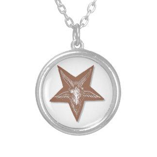 Sigil of Baphomet Round Pendant Necklace