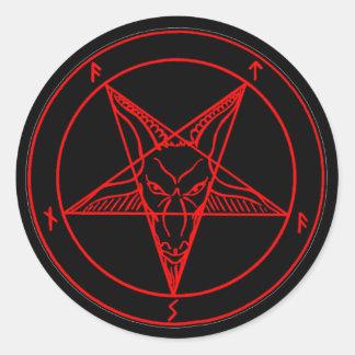 SIGIL of BAPHOMET Round Stickers