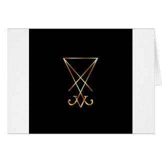 Sigil of Lucifer- A symbol of satanism Greeting Cards