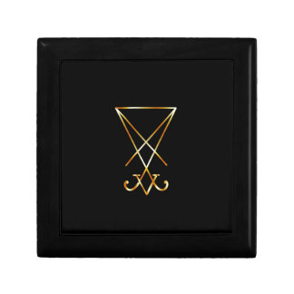 Sigil of Lucifer- A symbol of satanism Jewelry Boxes