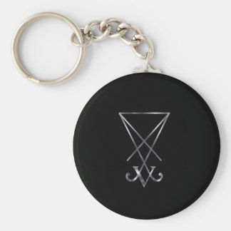 Sigil of Lucifer- A symbol of satanism Basic Round Button Keychain