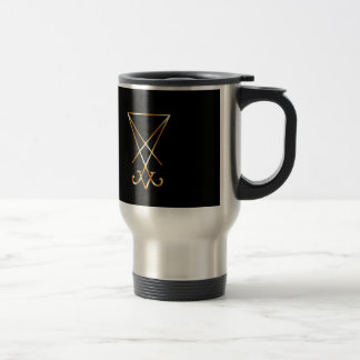 Sigil of Lucifer- A symbol of satanism 15 Oz Stainless Steel Travel Mug