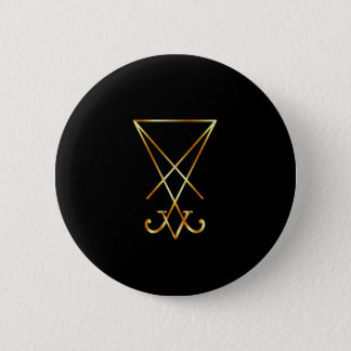 Sigil of Lucifer- A symbol of satanism Pinback Button