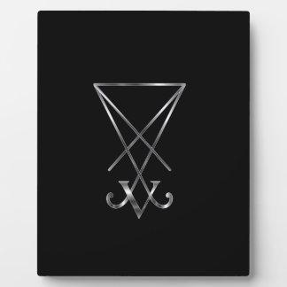 Sigil of Lucifer- A symbol of satanism Plaque