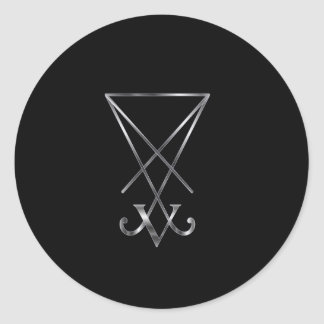 Sigil of Lucifer- A symbol of satanism Classic Round Sticker