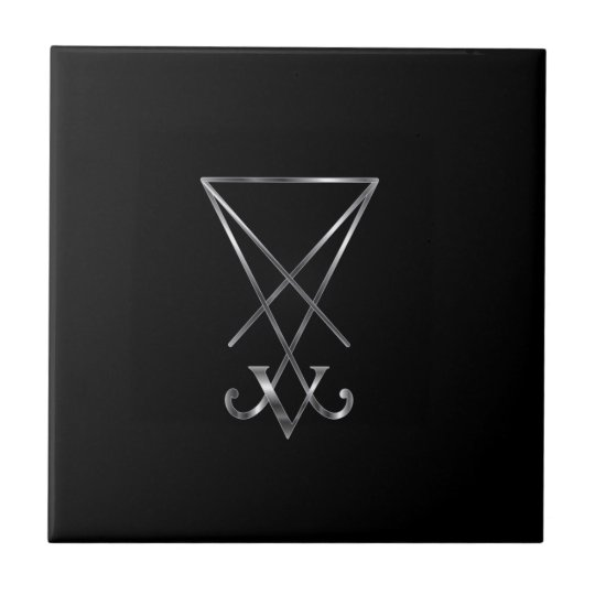 Sigil Of Lucifer- A Symbol Of Satanism Tile