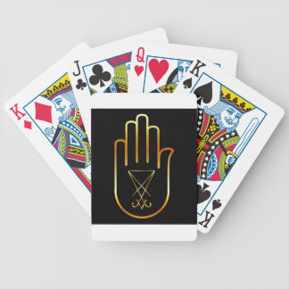 Sigil of Lucifer in a palm Bicycle Playing Cards