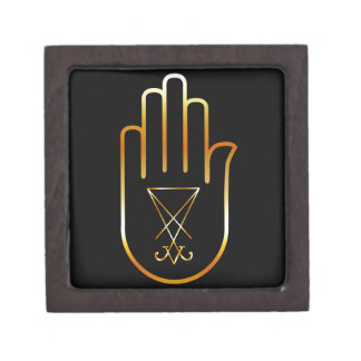 Sigil of Lucifer in a palm Gift Box