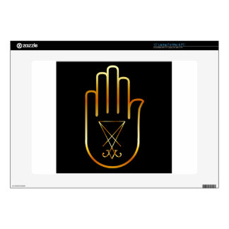 Sigil of Lucifer in a palm Laptop Decal