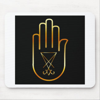 Sigil of Lucifer in a palm Mouse Pad
