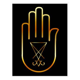 Sigil of Lucifer in a palm Postcard
