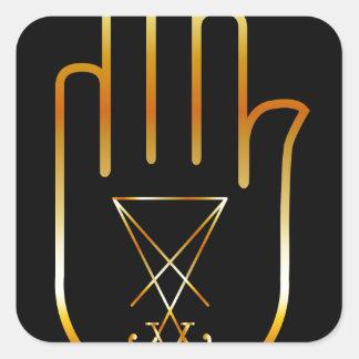 Sigil of Lucifer in a palm Square Sticker