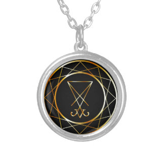 Sigil of Lucifer Silver Plated Necklace