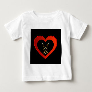 Sigil of Lucifer within a heart Baby T-Shirt