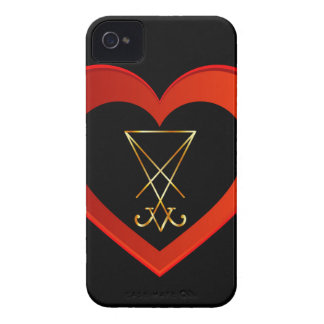 Sigil of Lucifer within a heart iPhone 4 Cover