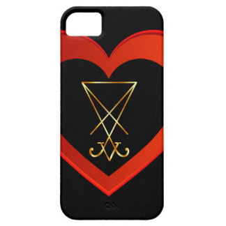 Sigil of Lucifer within a heart iPhone SE/5/5s Case