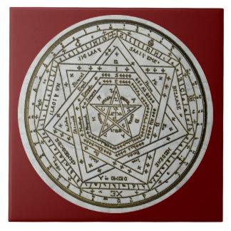 sigillum dei aemeth ceramic tile