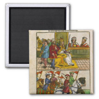 Sigismund at the Council of Constance 2 Inch Square Magnet