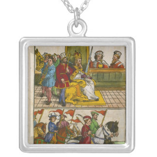 Sigismund at the Council of Constance Silver Plated Necklace