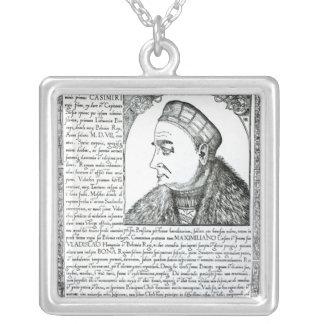 Sigismund I , 1532 Square Pendant Necklace