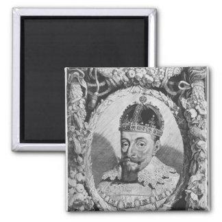 Sigismund Vasa, King of Poland and Sweden 2 Inch Square Magnet