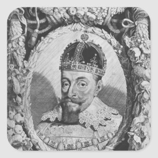 Sigismund Vasa, King of Poland and Sweden Square Sticker