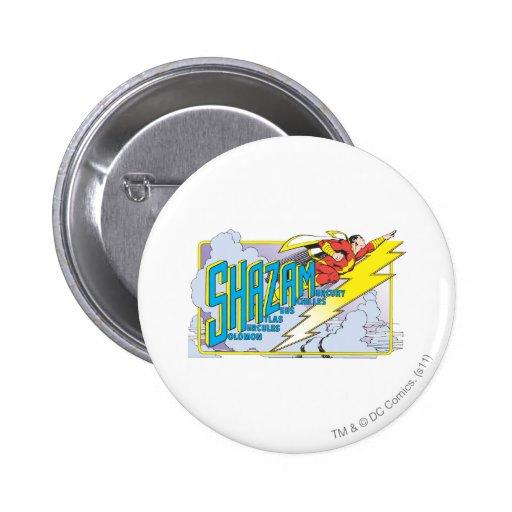 Siglas 2 de Shazam Pin Redondo 5 Cm