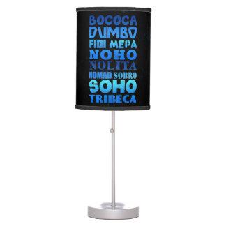Siglas de New York City Lámpara De Escritorio