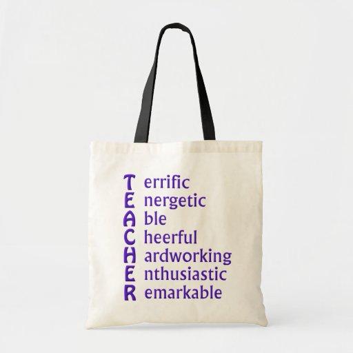 Siglas para los profesores bolsas de mano