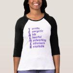 Siglas para los profesores camisetas