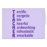 Siglas para los profesores tarjetas