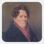 Siglo de Pedro-Louis Roederer de la cuenta décimo Calcomanías Cuadradass Personalizadas