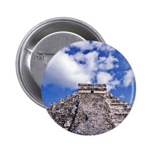 Siglo del EL Castillo-11th maya/ruinas de Toltec Pin