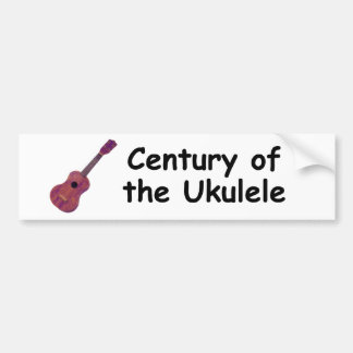 Siglo del Ukulele Pegatina De Parachoque