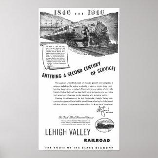 Siglo II del Ferrocarril-UNo del valle de Lehigh d