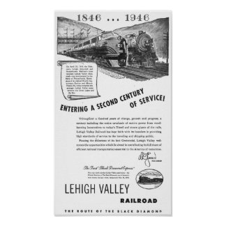 Siglo II del Ferrocarril-UNo del valle de Lehigh d Posters