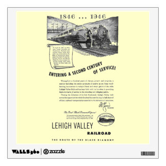 Siglo II del Ferrocarril-UNo del valle de Lehigh Vinilo Decorativo