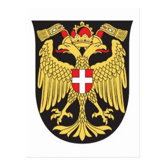 Siglo XIX del escudo de armas de Viena Tarjetas Postales