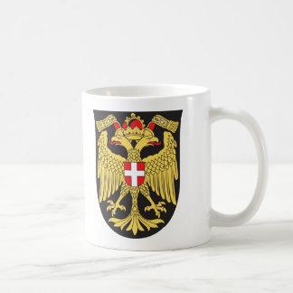 Siglo XIX del escudo de armas de Viena Taza