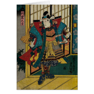 Siglo XIX del guerrero del samurai Tarjeta De Felicitación