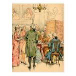 Siglo XVIII de socialización Postales