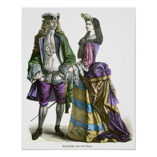 Siglo XVIII francés del señor y de la señora Posters