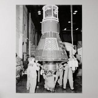 Sigma 7 (nave espacial del atlas de Mercury 8) Posters