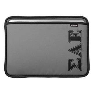 Sigma Alpha Epsilon Black Letters Sleeve For MacBook Air