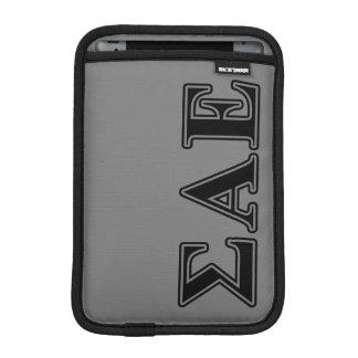 Sigma Alpha Epsilon Black Letters iPad Mini Sleeves