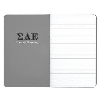 Sigma Alpha Epsilon Black Letters Journals