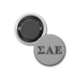 Sigma Alpha Epsilon Black Letters Magnet