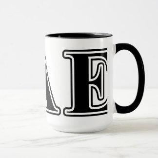 Sigma Alpha Epsilon Black Letters Mug