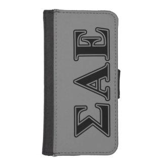Sigma Alpha Epsilon Black Letters Phone Wallet Case