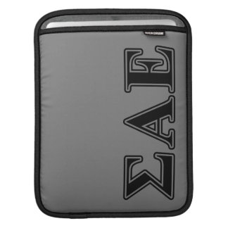 Sigma Alpha Epsilon Black Letters Sleeve For iPads